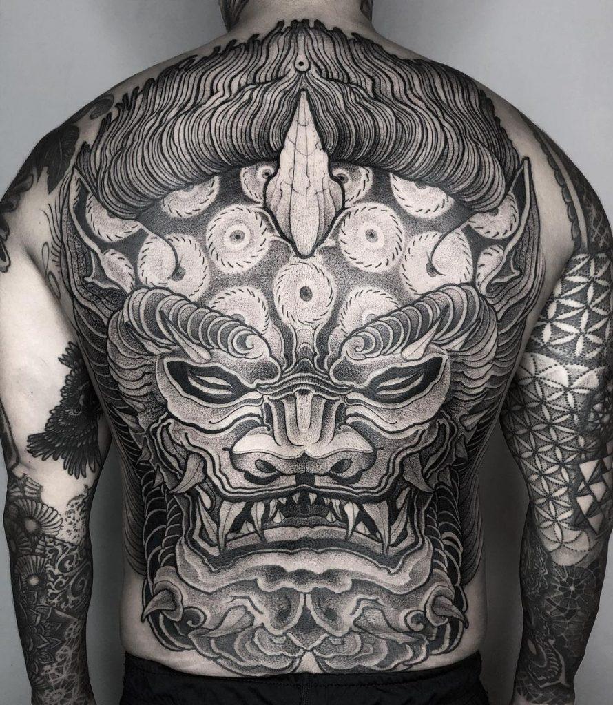Japanese Lion Tattoo