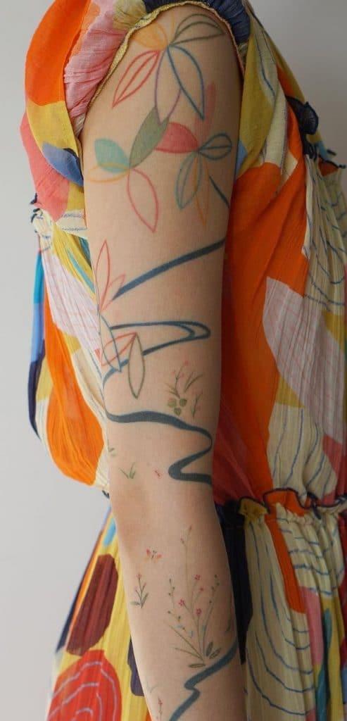 Jess Chen Flower Tattoo