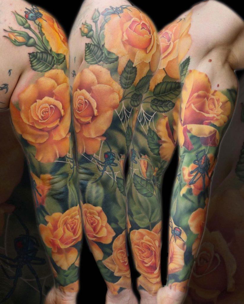 Liz Venom Flower Tattoo