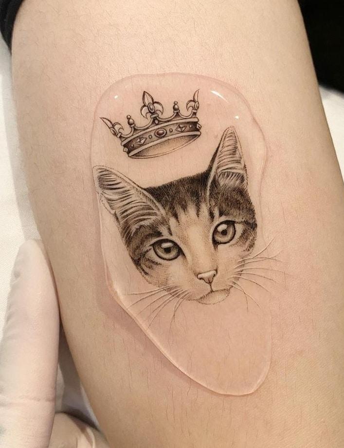 Micro-realist Cat Tattoo