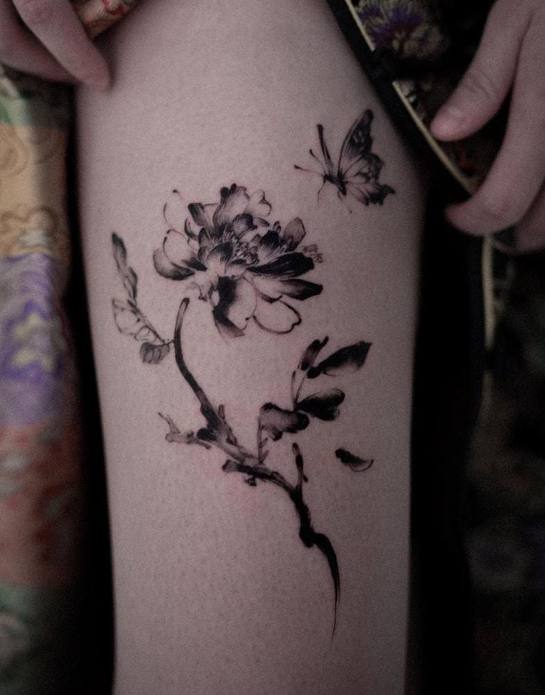 Mooho Flower Tattoo