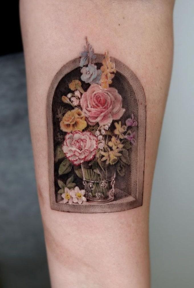 Mumi Ink's Flower Tattoo