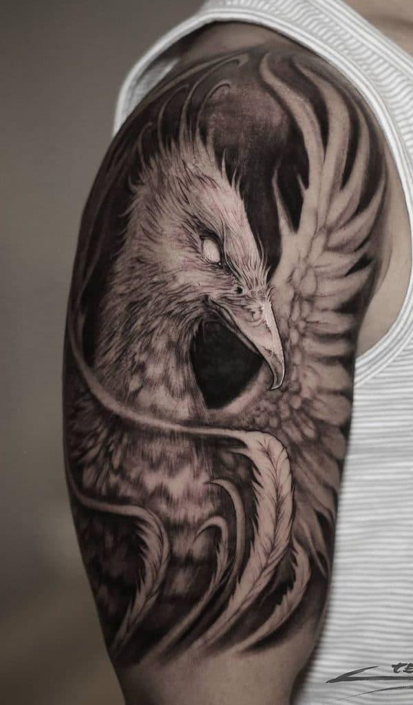 Phoenix Upper Arm Tattoo