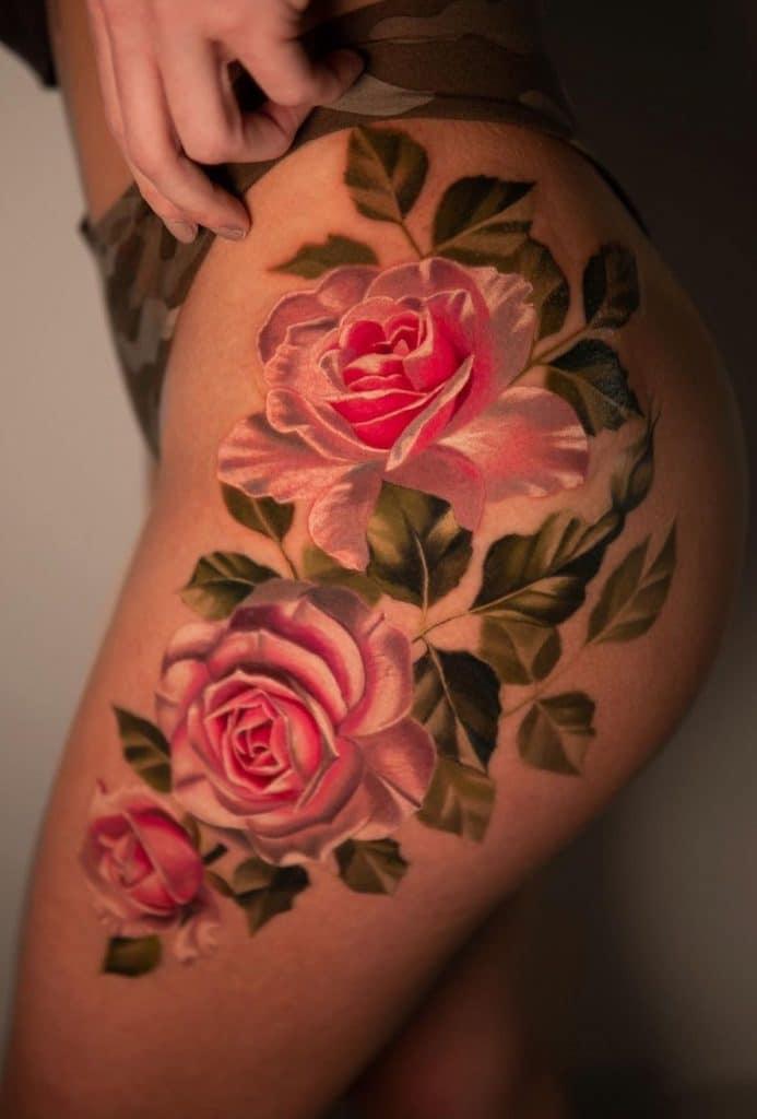 Pony Wave Flower Tattoo