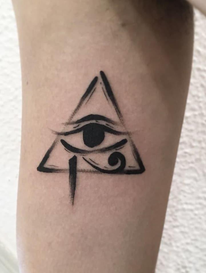 Pyramid with Eye of Horus Tattoo