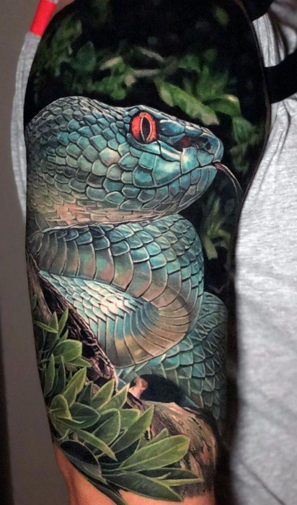 Realistic Snake Tattoo