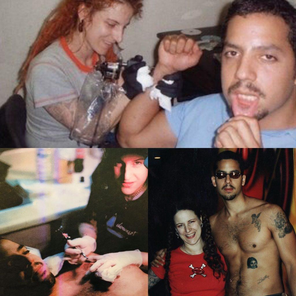 Ronda Xanthos tattooing David Blaine