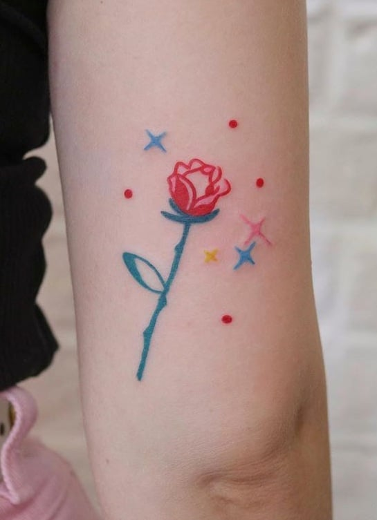 Small Contemporary Rose Tattoo
