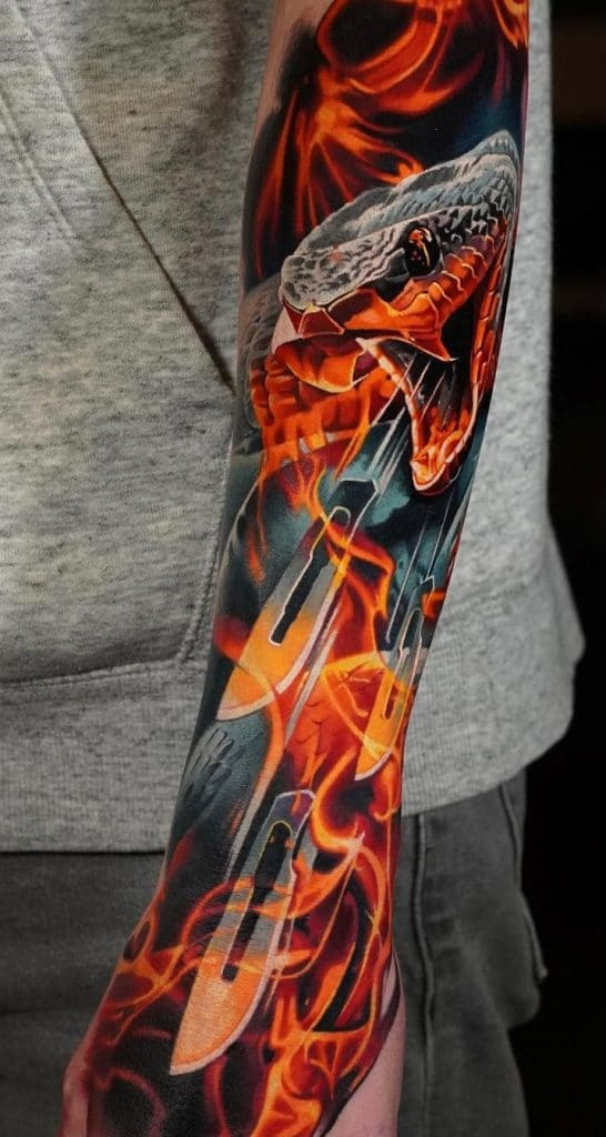Snake Forearm Tattoo