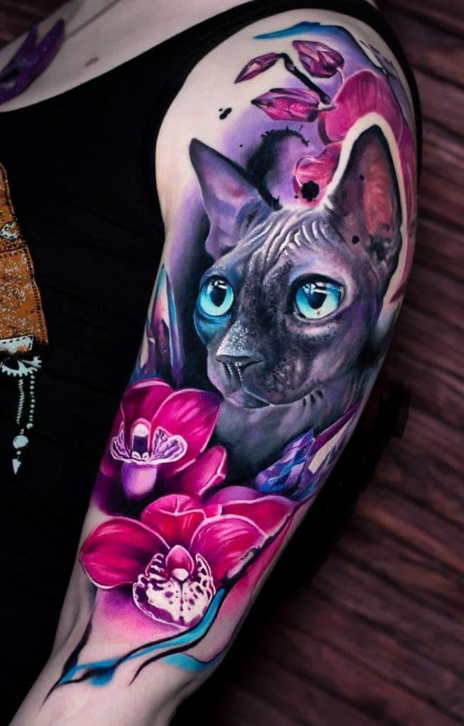 Sphynx Cat Tattoo