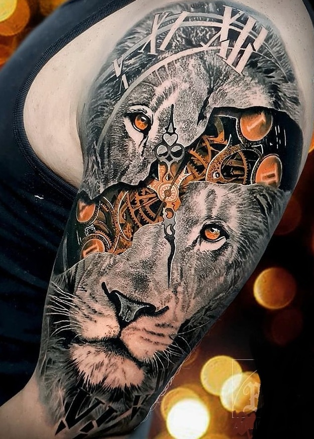 Steampunk Lion Tattoo