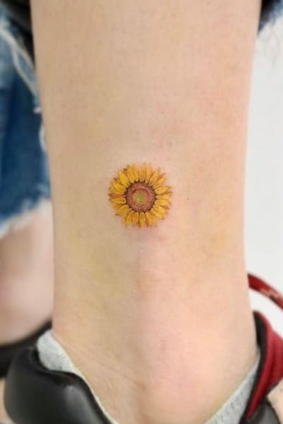 Sunflower without Stem Tattoo