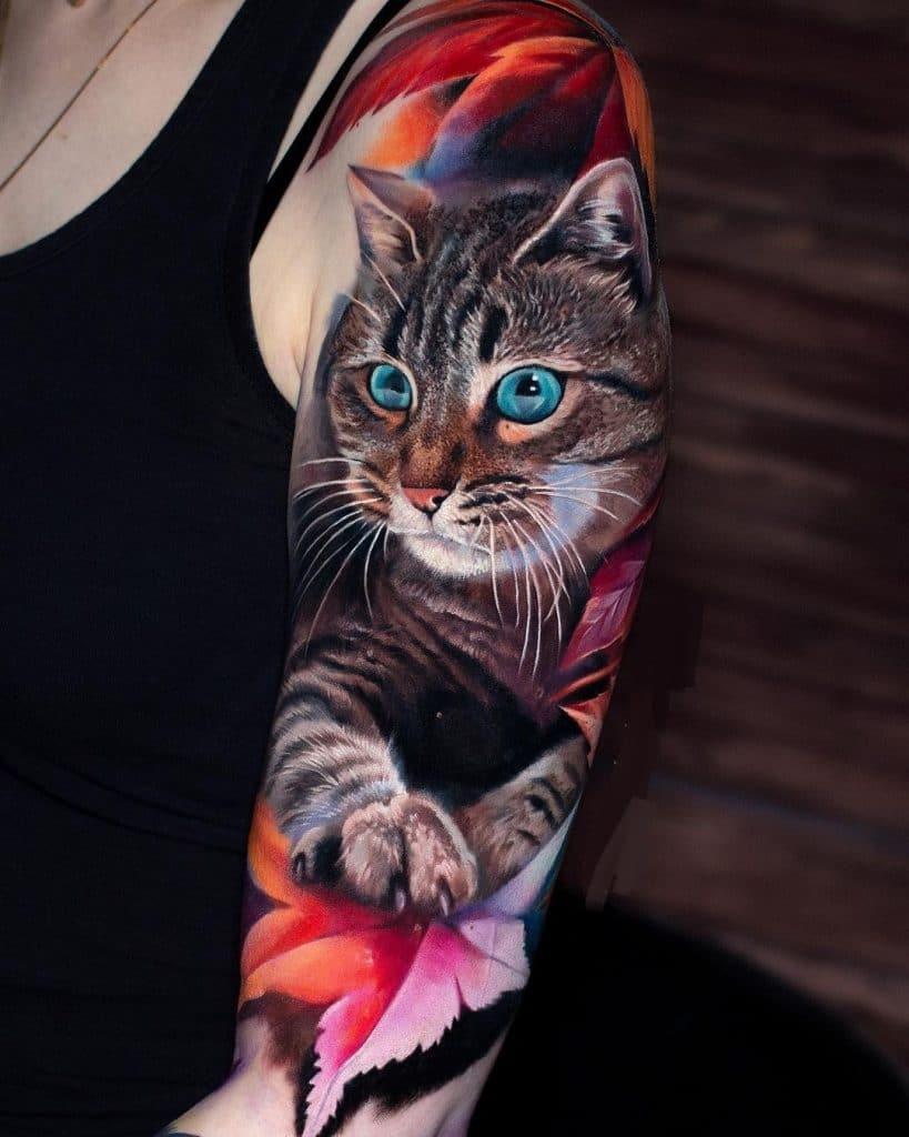 Tabby Cat Tattoo