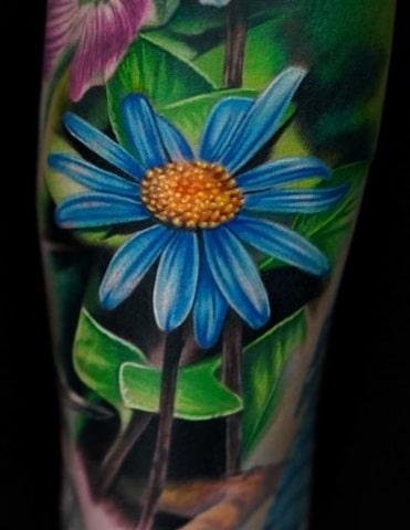 Vic Vivid Flower Tattoo