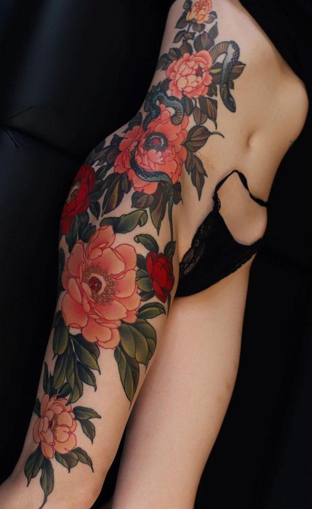Yuuz Flower Tattoo
