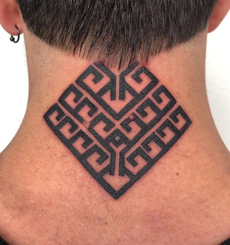 Minimalist Yggdrasil Tattoo