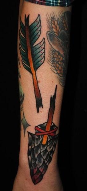 American Traditional Arrow Tattoo