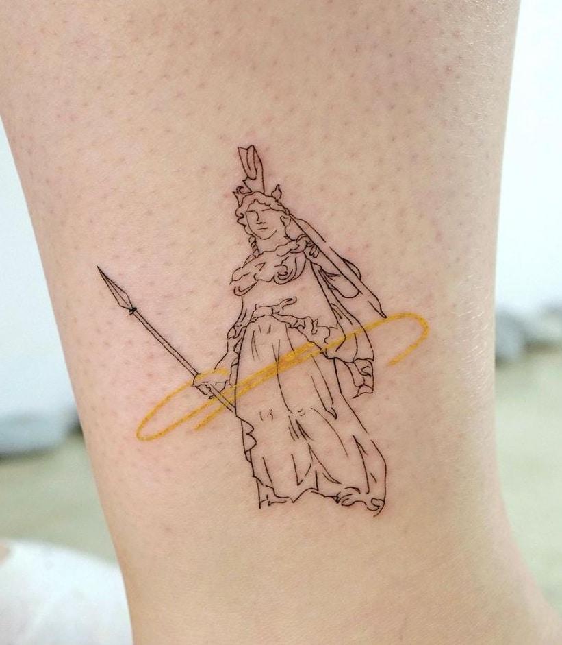 Simple Athena Tattoo