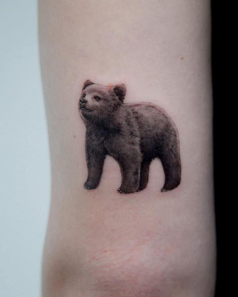 Bear Cub Tattoo