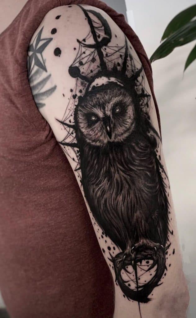 Black-Banded Owl Tattoo