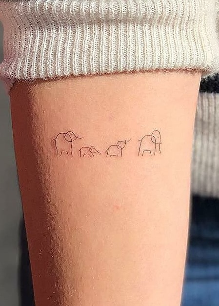 Elephant Family Tattoo