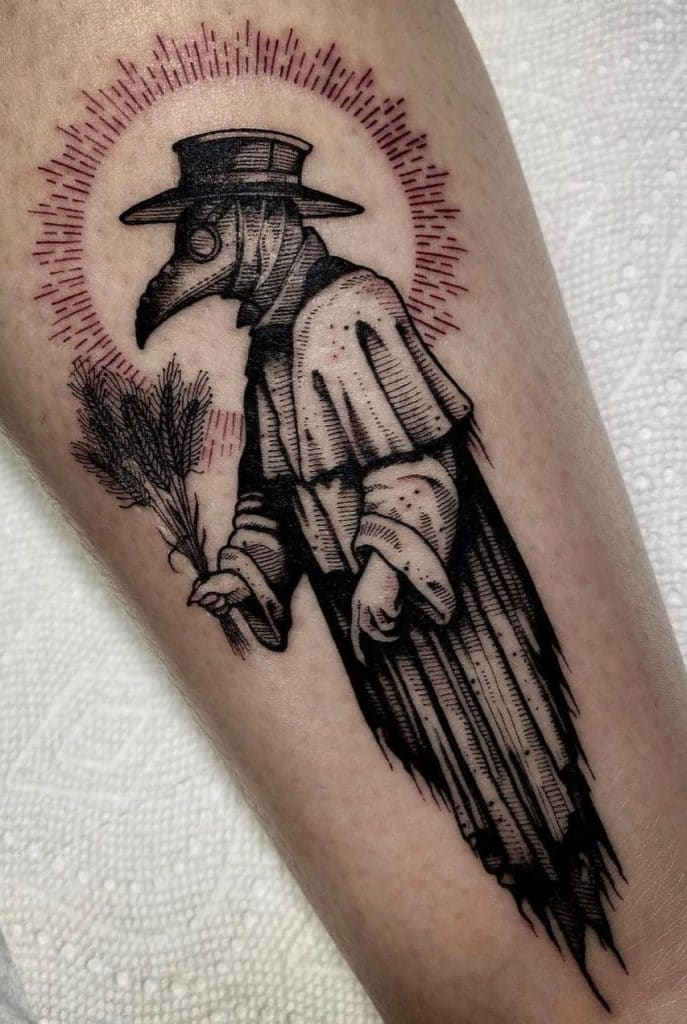 Gothic Plague Doctor Tattoo