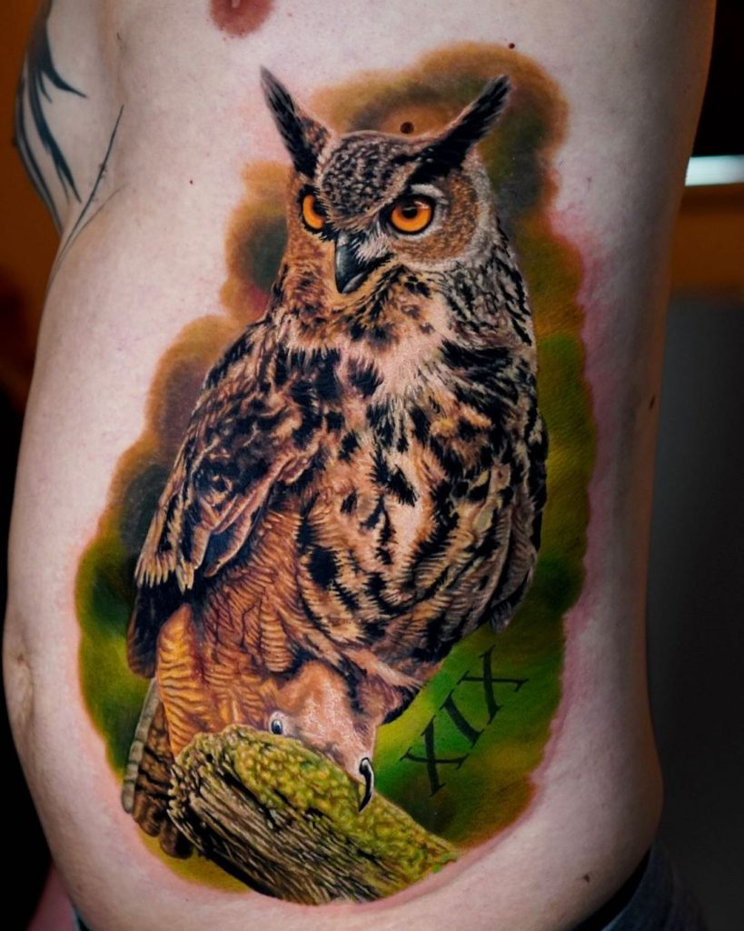 Great Horned Owl Tattoo
