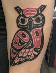 Haida Owl Tattoo