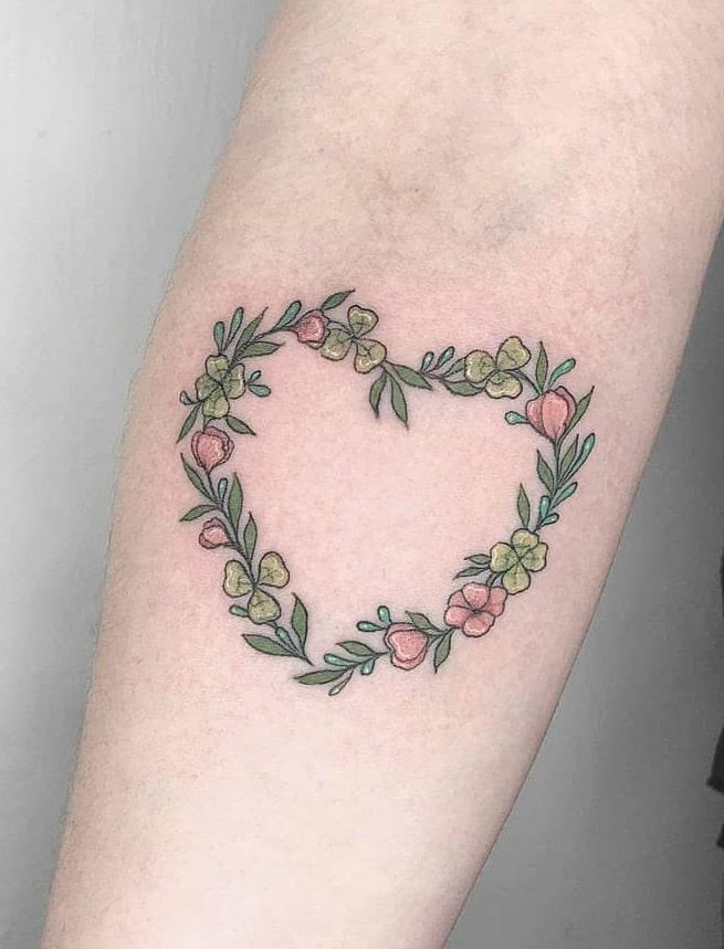 Heart Shamrock Tattoo