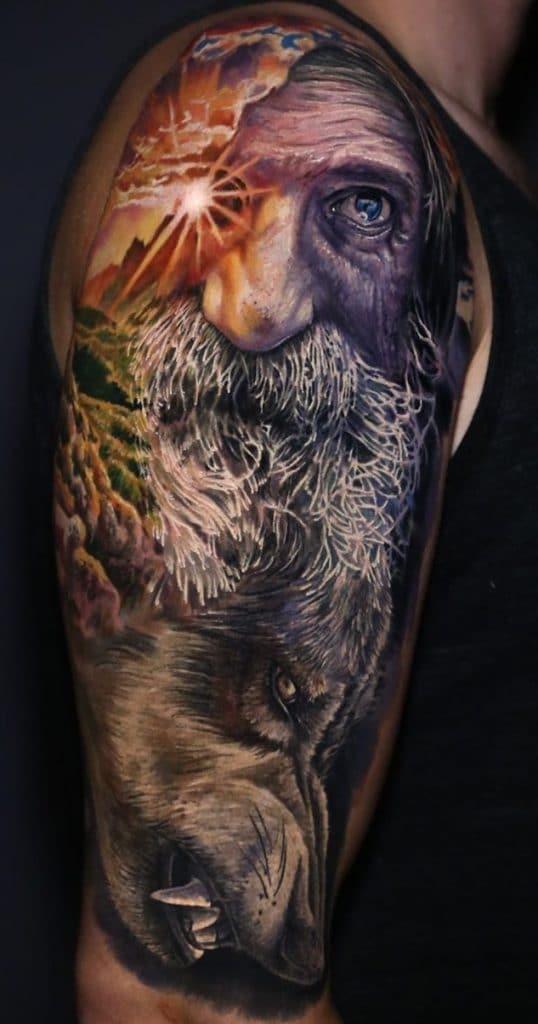 Illustrative Odin Tattoo