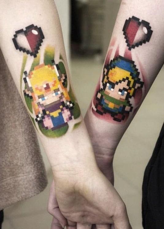 Link and Zelda Matching Tattoos