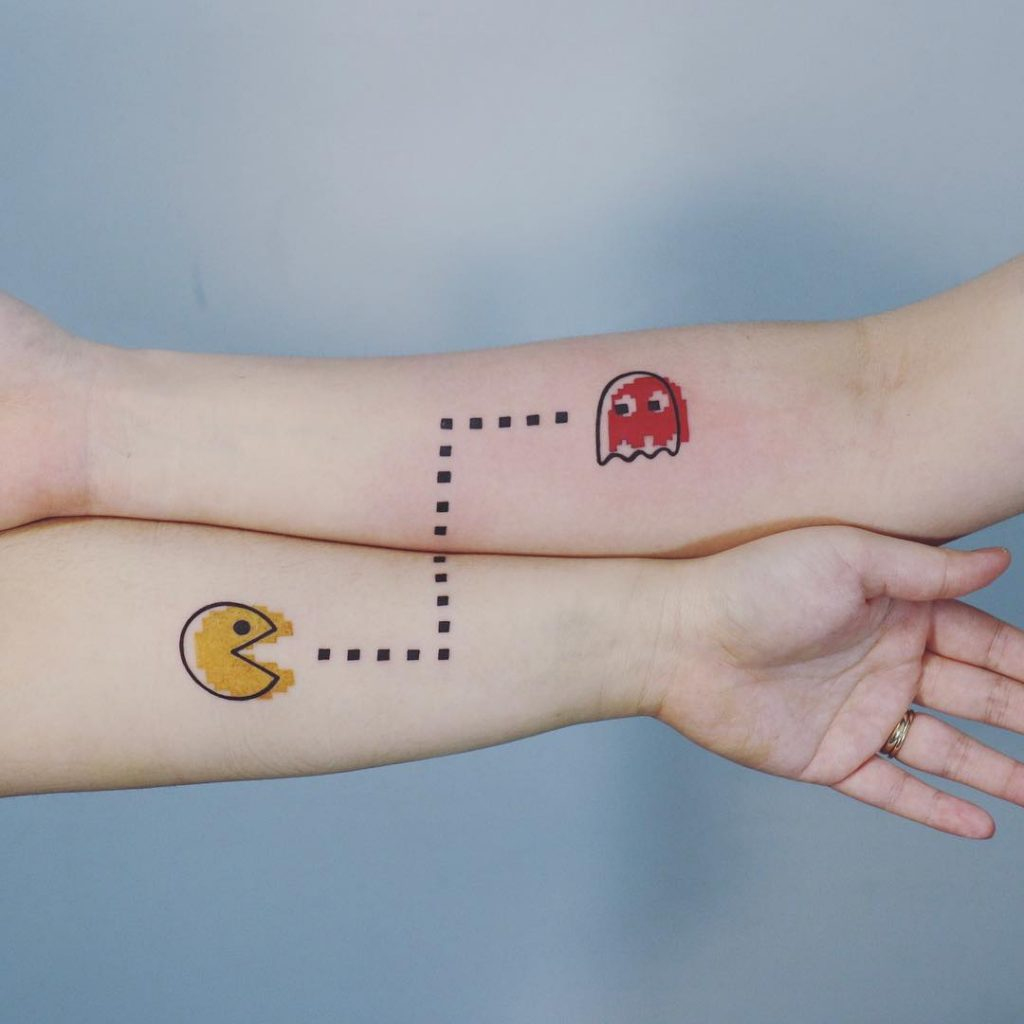 Matching Pacman Tattoos