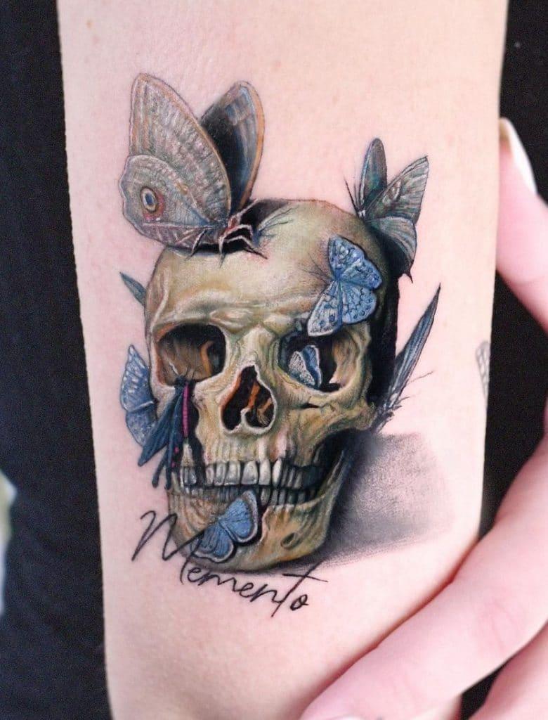 Memento Mori Skull Tattoo