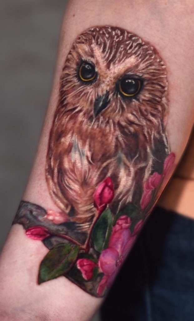 Mexican Spotted Owl Tattoo