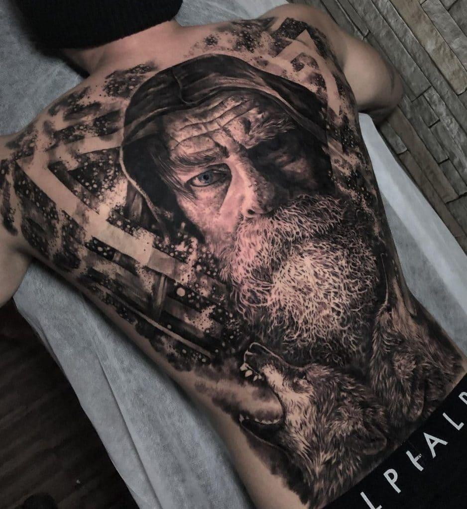 Odin's Wolves Tattoo