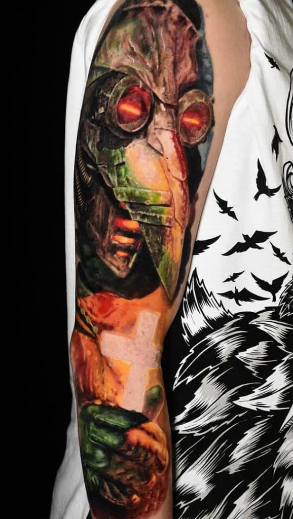 Plague Doctor Sleeve Tattoo