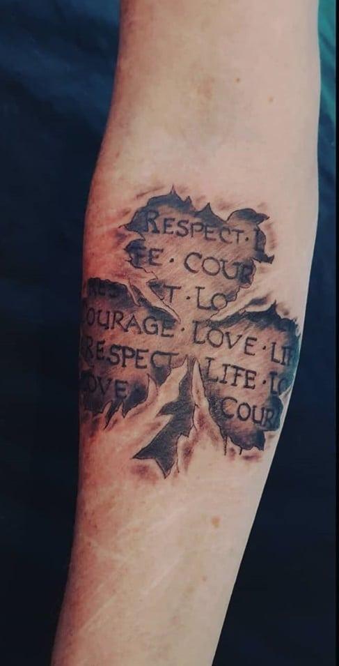 Shamrock Forearm Tattoo