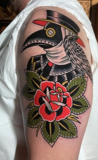 Traditional Plague Doctor Tattoo