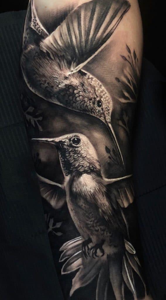 Two Hummingbirds Tattoo