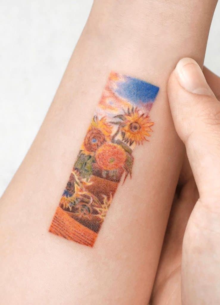 Field of Sunflowers Tattoo