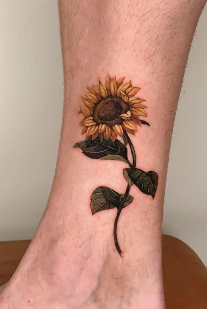 Single Sunflower Tattoo