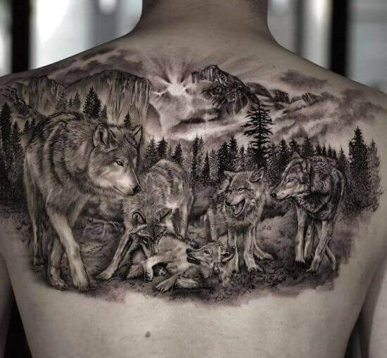 Wolf Pack Tattoo
